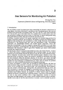 Gas Sensors for Monitoring Air Pollution