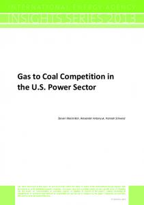 Gas to Coal Competition in