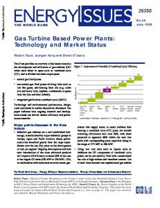 Gas Turbine Based Power Plants: Technology and Market Status