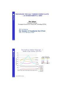 Gas turbine market forecast - 1 number of gas turbines