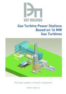 Gas Turbine Power Stations Based on 16 MW Gas Turbines