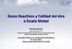 Gases Reactivos y Calidad del Aire a Escala Global