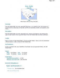 Gas_Hubs. Shapefile. Tags natural gas, hubs, pricing, Gas Daily