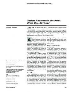 Gasless Abdomen in the Adult: What Does It Mean?