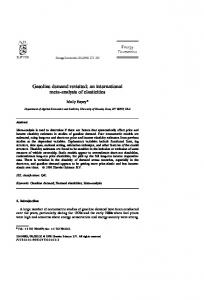 Gasoline demand revisited: an international meta-analysis of elasticities