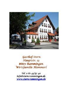 Gasthof Stern Hauptstr Rammingen Wirtsfamilie Hammerl