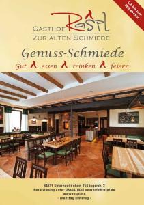Gasthof Zur alten Schmiede. Genuss-Schmiede. Gut essen trinken feiern