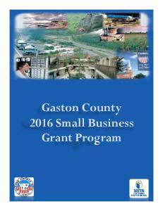 Gaston County 2016 Small Business Grant Program