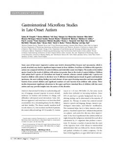 Gastrointestinal Microflora Studies in Late-Onset Autism