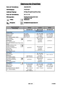 Gastronomie-Checkliste