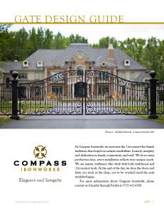 gate Design Guide Elegance and Integrity