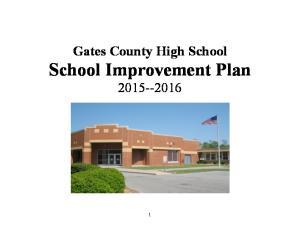 Gates County High School School Improvement Plan