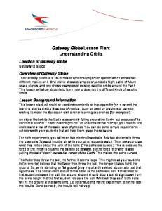 Gateway Globe Lesson Plan: Understanding Orbits