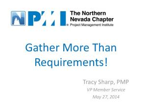 Gather More Than Requirements!