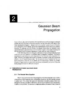 Gaussian Beam Propagation