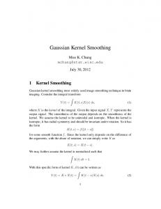 Gaussian Kernel Smoothing