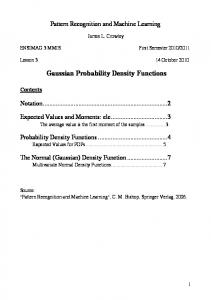Gaussian Probability Density Functions