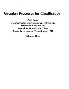 Gaussian Processes for Classification