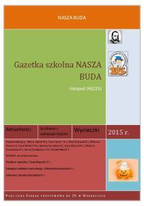 Gazetka szkolna NASZA BUDA