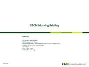 GBCM Morning Briefing