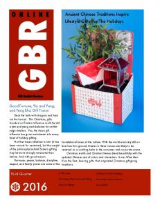 GBR ONLINE. Ancient Chinese Traditions Inspire Lifestyle Gifts For The Holidays. Gift Basket Review