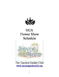 GCA Flower Show Schedule