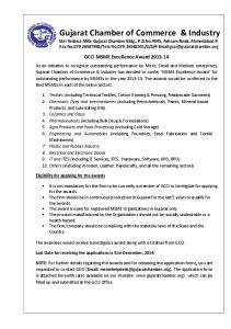 GCCI MSME Excellence Award