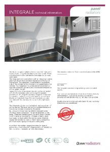 GCE. OuJNN~radiators. The standard colour for Quinn panel radiators is RAL9016