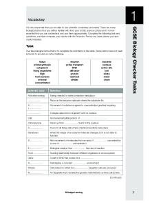GCSE Biology Checker Tasks