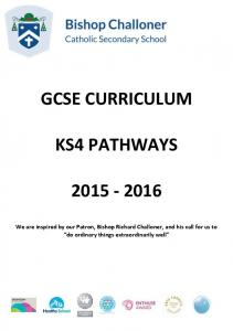 GCSE CURRICULUM KS4 PATHWAYS