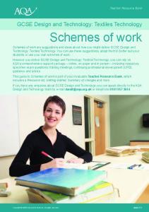 GCSE Design and Technology: Textiles Technology