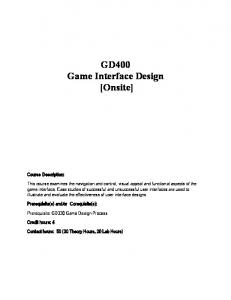 GD400 Game Interface Design [Onsite]