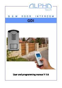 GDI User and programming manual V 2.6