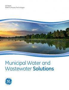GE Power Water & Process Technologies. Municipal Water and Wastewater Solutions