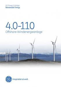 GE Power & Water Renewable Energy Offshore-Windenergieanlage