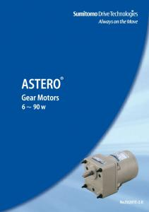 Gear Motors & Controllers. A Global Standard for Compact Gear Motors from Sumitomo Heavy Industries