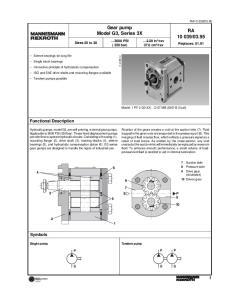 Gear pump Model G3, Series 3X