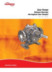 Gear Pumps Between Bearings, Herringbone Gear Designs