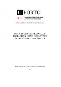 GEAR TOOTH FLANK DAMAGE PREDICTION USING HIGH-CYCLE FATIGUE AND WEAR MODELS