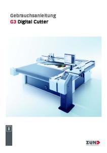 Gebrauchsanleitung G3 Digital Cutter