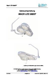 Gebrauchsanleitung MACH LED 300DF