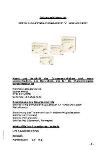 Gebrauchsinformation. Softiflox 5 mg aromatisierte Kautabletten für Hunde und Katzen