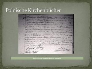 Geburtseintrag aus dem Jahr 1849 aus Kalisch