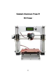 Geeetech Aluminum Prusa I3 3D Printer