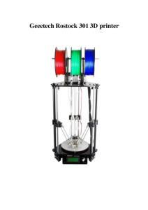 Geeetech Rostock 301 3D printer