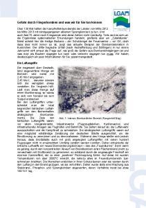 Gefahr durch Fliegerbomben und was wir für Sie tun können