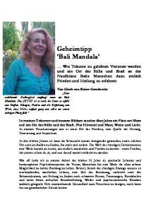 Geheimtipp Bali Mandala