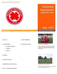 Geisecker Sportverein Jugendkonzept