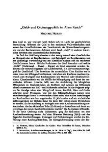 Geld- und Ordnungspolitik im Alten Reich