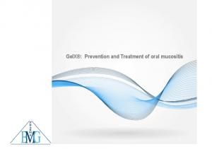 GelX : Prevention and Treatment of oral mucositis